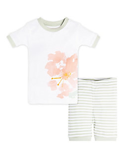 Baby Rosy Spring Organic Cotton Short Sleeve Pajamas