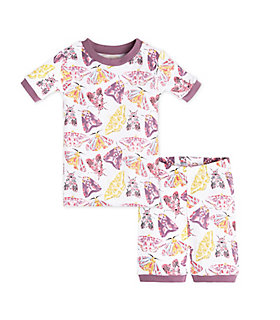 Baby Desert Moths Organic Cotton Short Sleeve Pajamas