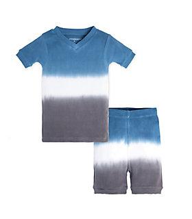 Baby Tri Dip Dye Organic Cotton Short Sleeve Pajamas