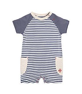 Baby Raglan Double Pocket Organic Cotton Shortall
