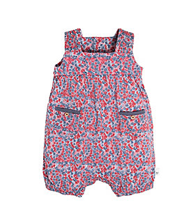 Baby Disty Floral Organic Cotton Bubble Romper