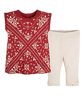 Baby Bandana Organic Cotton Tunic and Capri Legging Set