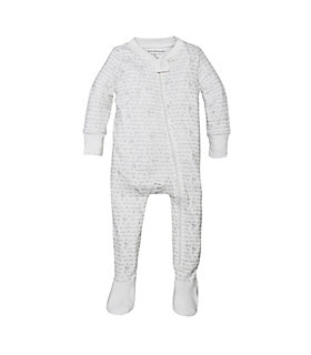 Baby Alphabet Bee Organic Zip Front Footed Pajamas