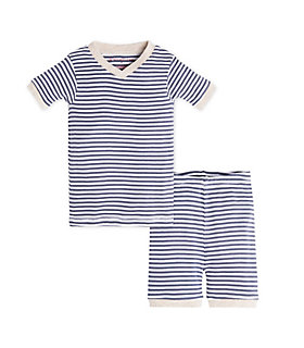 Baby Stripe Organic Cotton Short Sleeve Pajamas