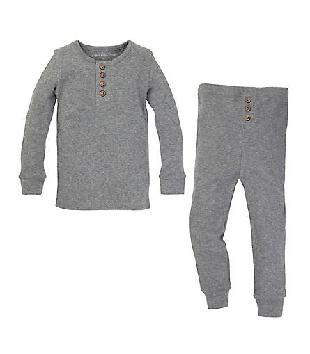 Kids Organic Cotton Henley Pajamas - Burts Bees Baby
