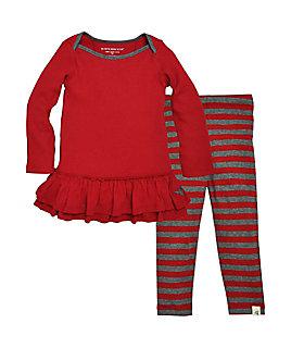 Kids Stripe Dress Set