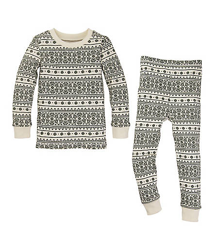 Kids Fair Isle Organic Cotton Pajamas - Burts Bees Baby
