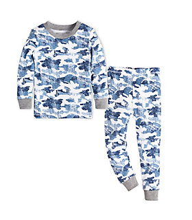 Kids Distressed Camo Organic Cotton Pajama Set