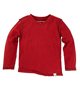 Kids Organic Cotton Solid High V Tee