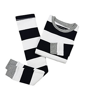 Kids Rugby Stripe Organic Cotton Pajamas