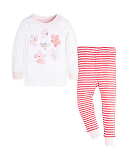 Kids Mini Stripe Organic Cotton Pajama Set