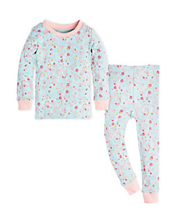 Kids Ditsy Floral Organic Cotton Pajama Set