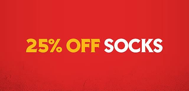 20 percent off socks