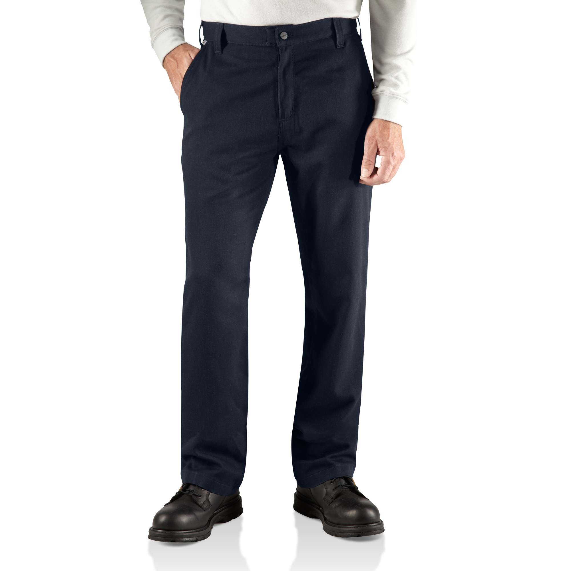 carhartt flame-resistant work pant - relaxed fit dark navy 33 x 36