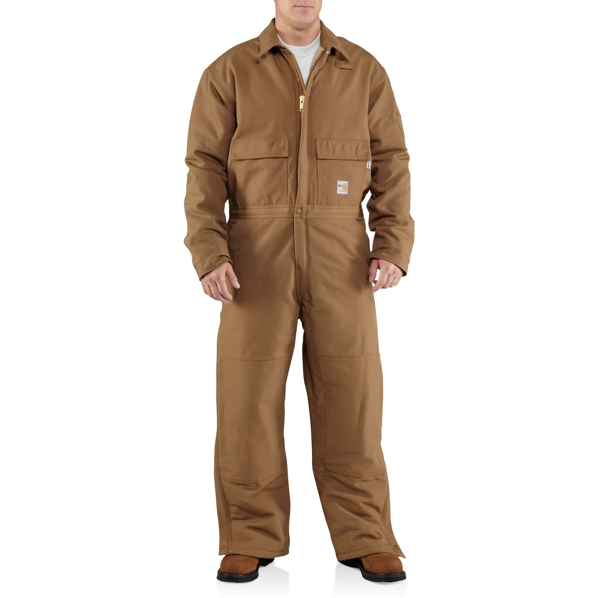 carhartt flame-resistant duck coverall/quilt-lined carhartt brown xltl