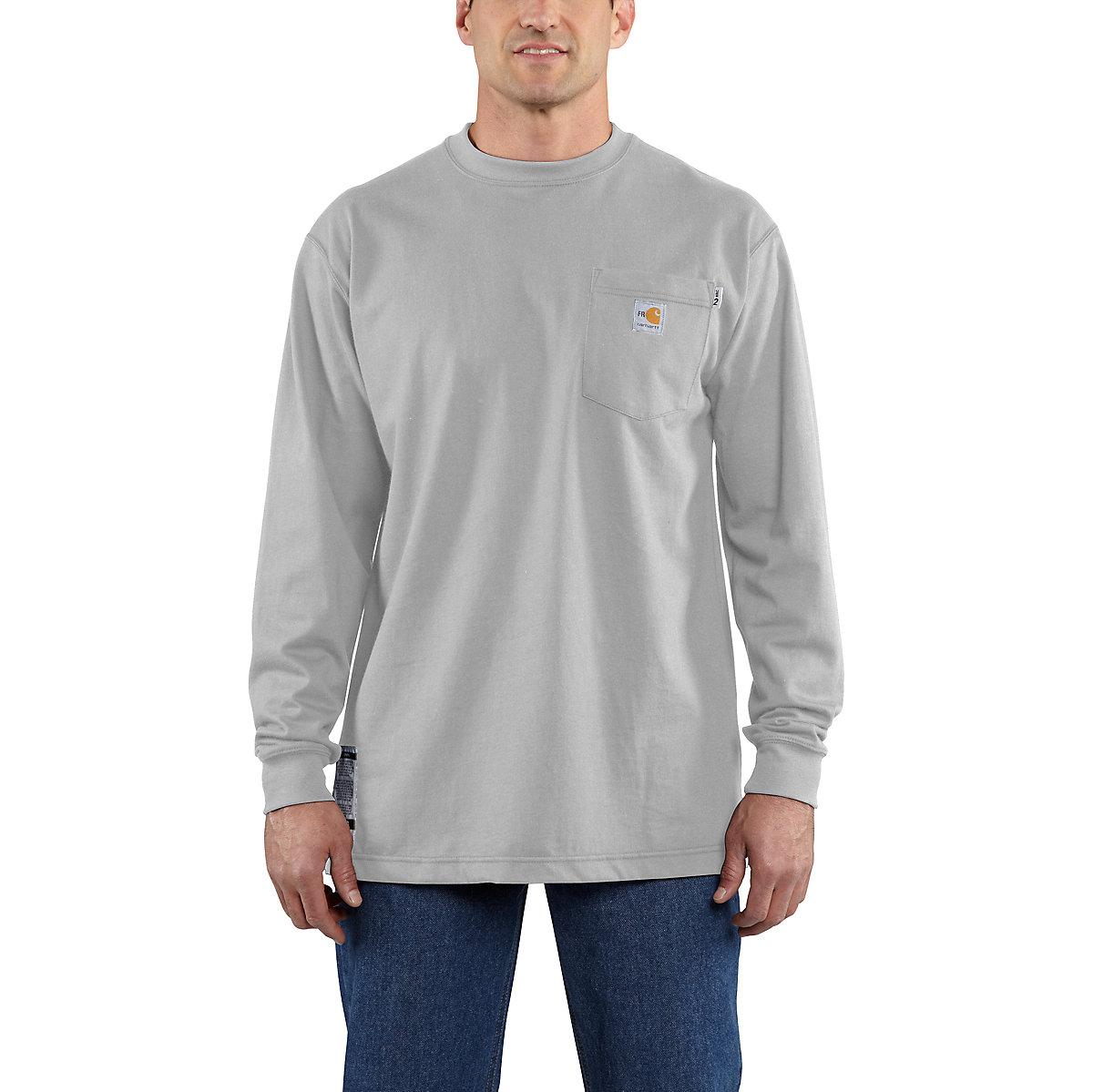 Men 39 s flame resistant carhartt force cotton long sleeve t for Carhartt men s long sleeve lightweight cotton shirt
