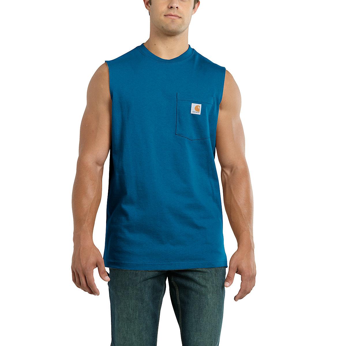 Men 39 S Workwear Pocket Sleeveless T Shirt 100374 Carhartt
