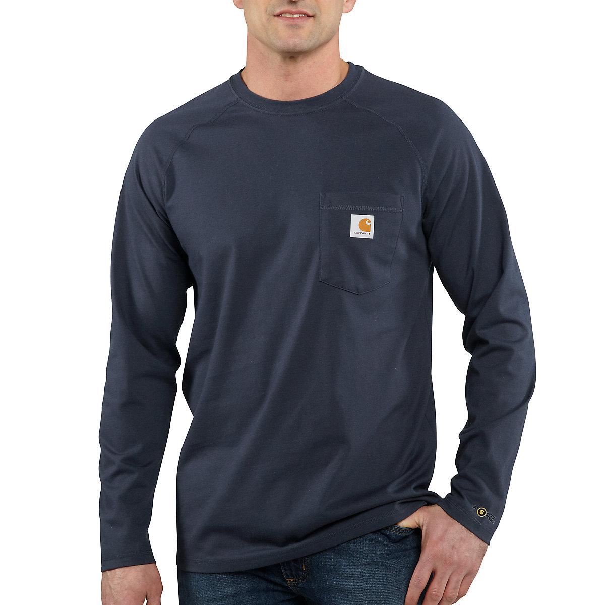 Men 39 S Carhartt Force Cotton Delmont Long Sleeve T Shirt