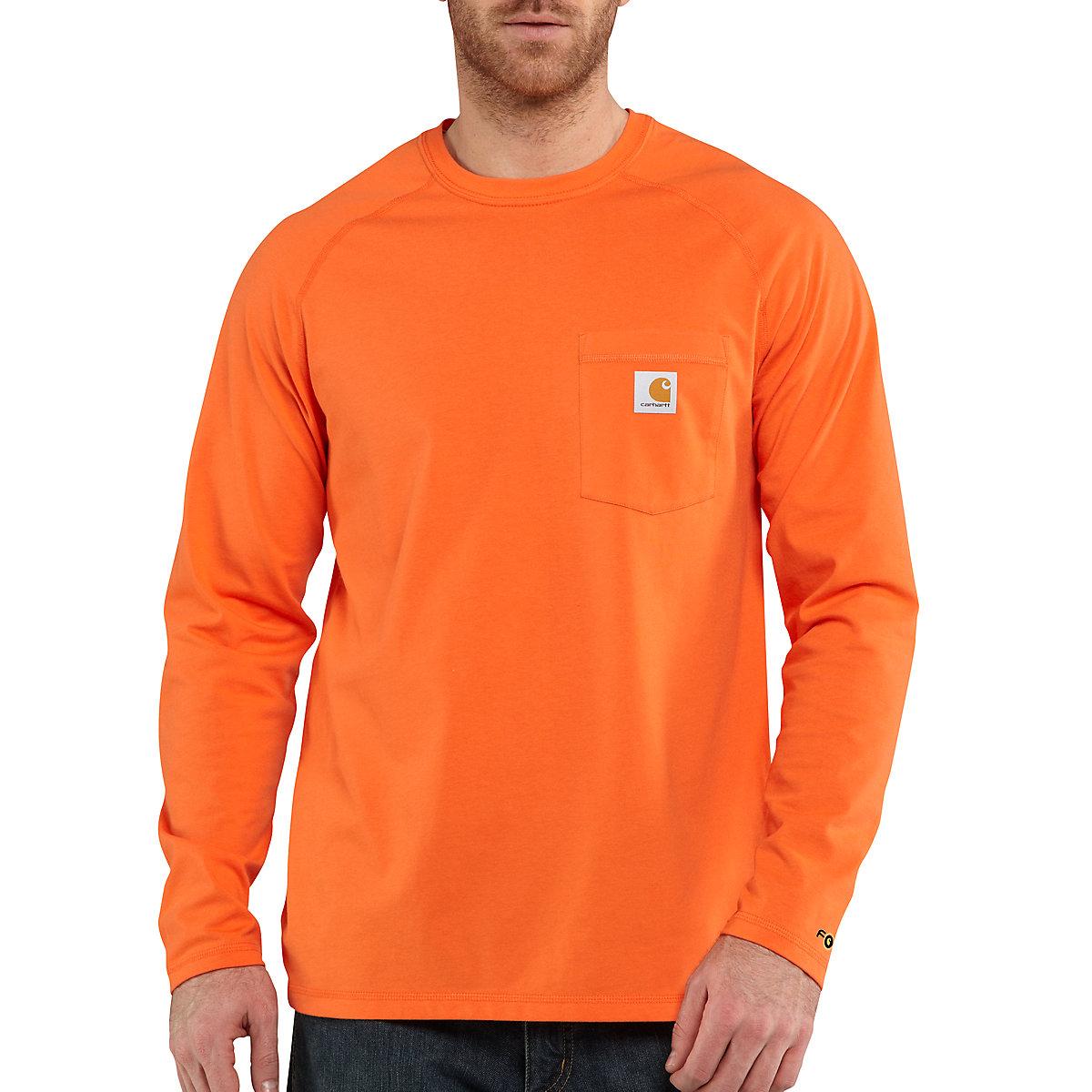 Men 39 s carhartt force cotton delmont long sleeve t shirt for Carhartt men s chamois long sleeve shirt