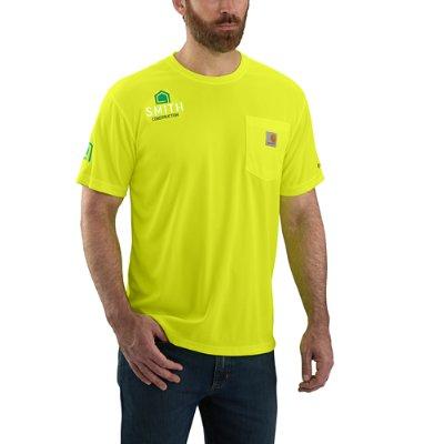 Carhartt Men's Brite Lime Carhartt Force® Color Enhanced Short-Sleeve T- Shirt ...