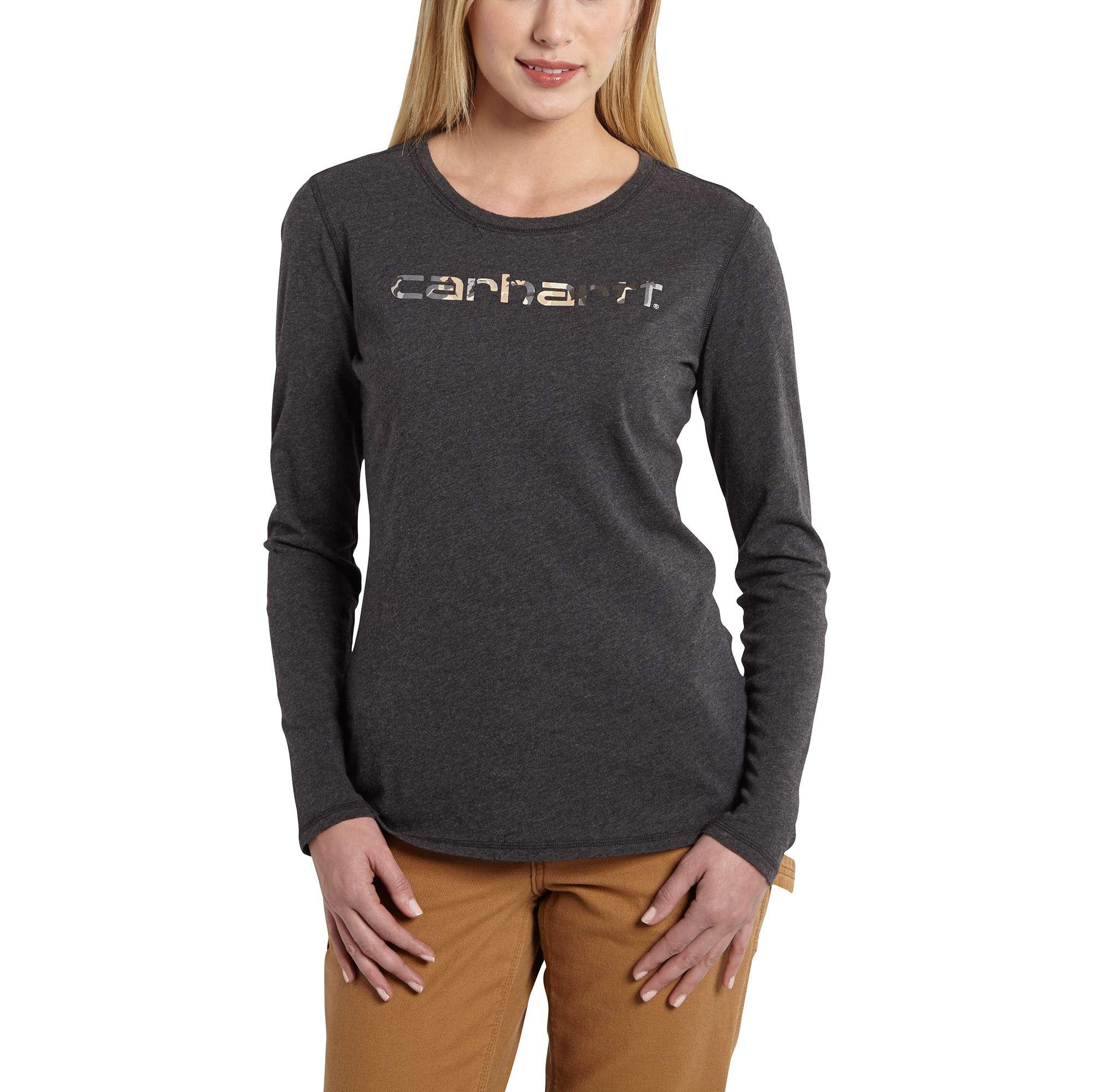 carhartt signature ls t-shirt black heather xl