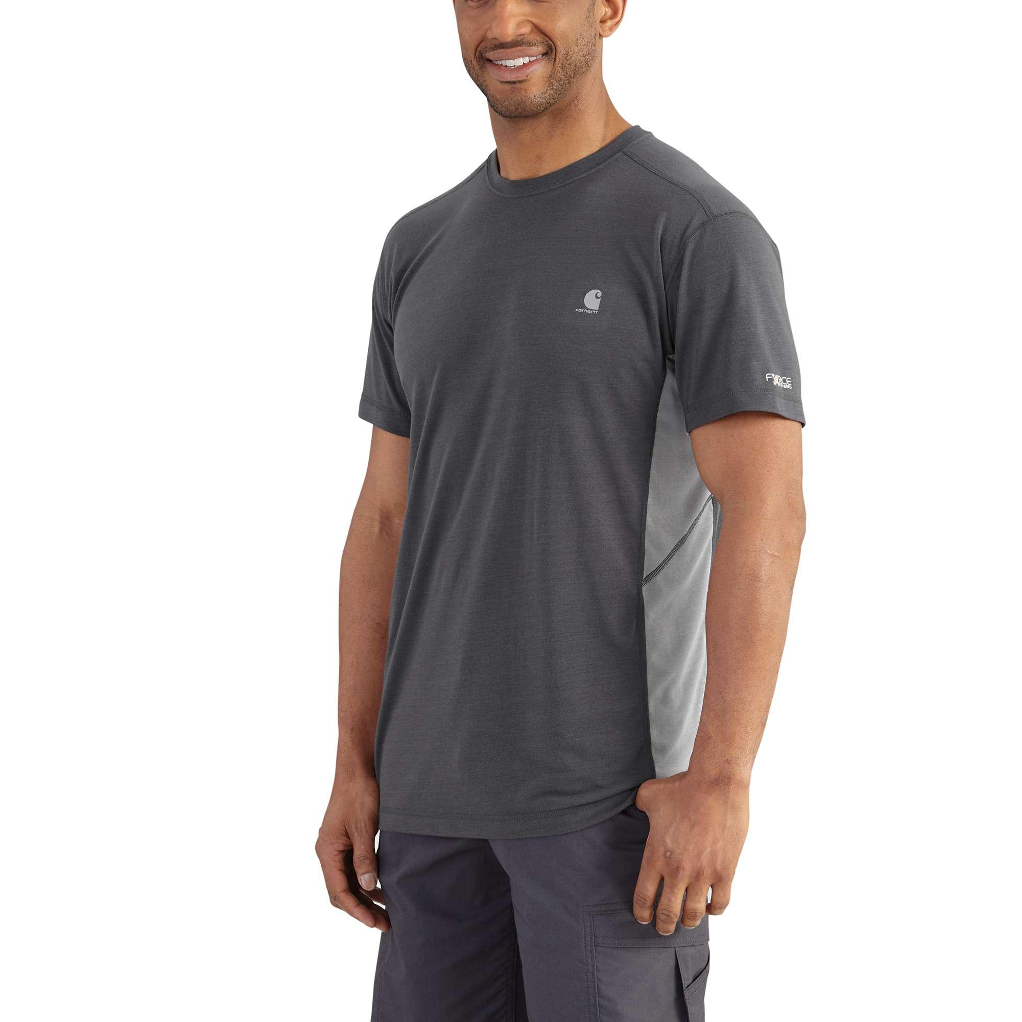 carhartt force extremes short sleeve t-shirt shadow/asphalt xl