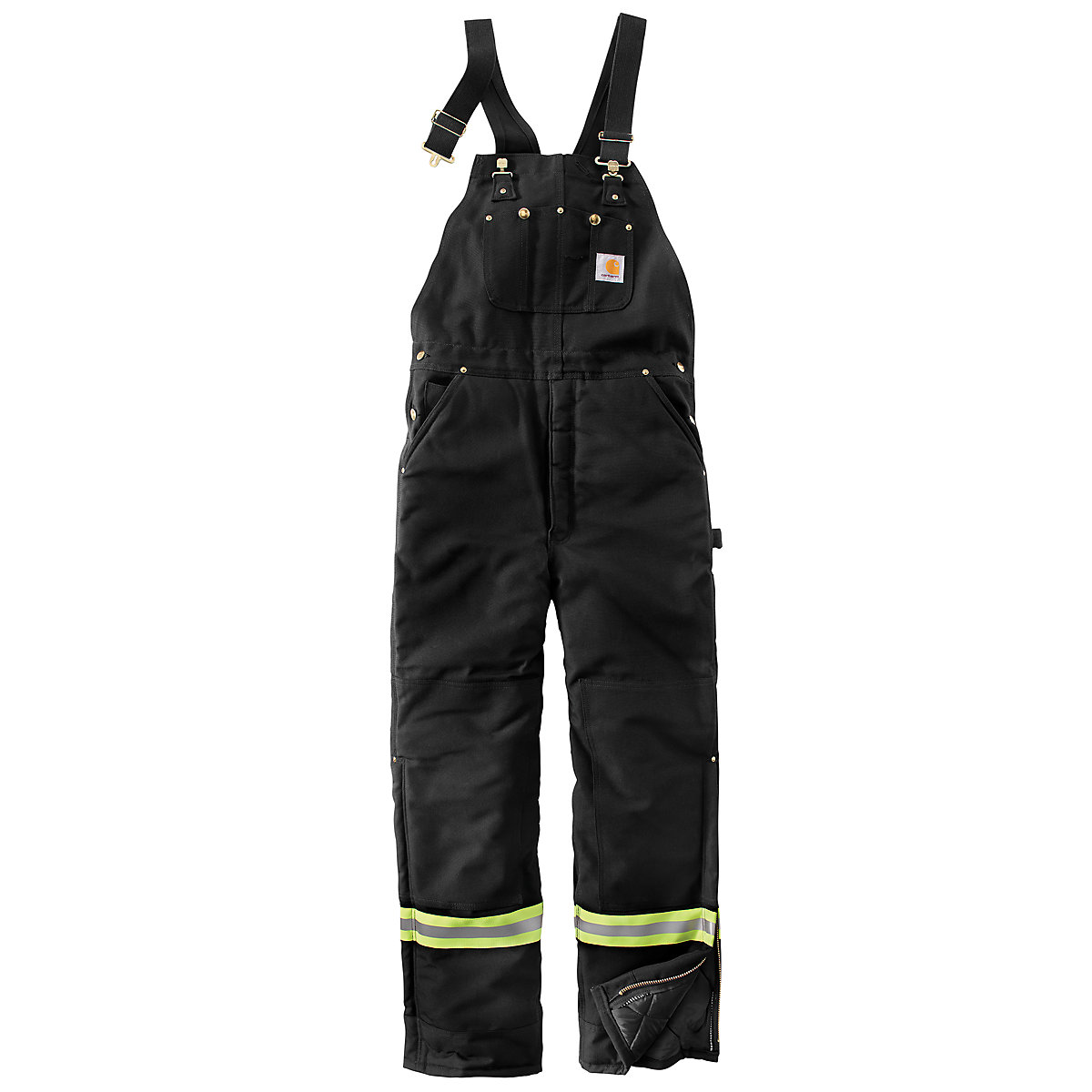 Men's High-Visibility Striped Duck Bib Lined Overall/Arctic Quilt ... : carhartt quilt lined duck bib overalls - Adamdwight.com
