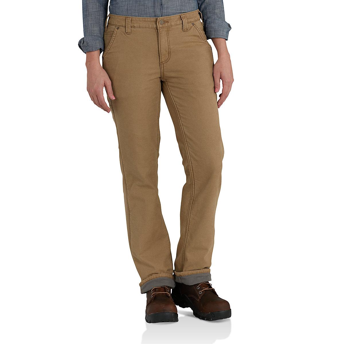 Women S Fleece Lined Crawford Pants 102213 Carhartt