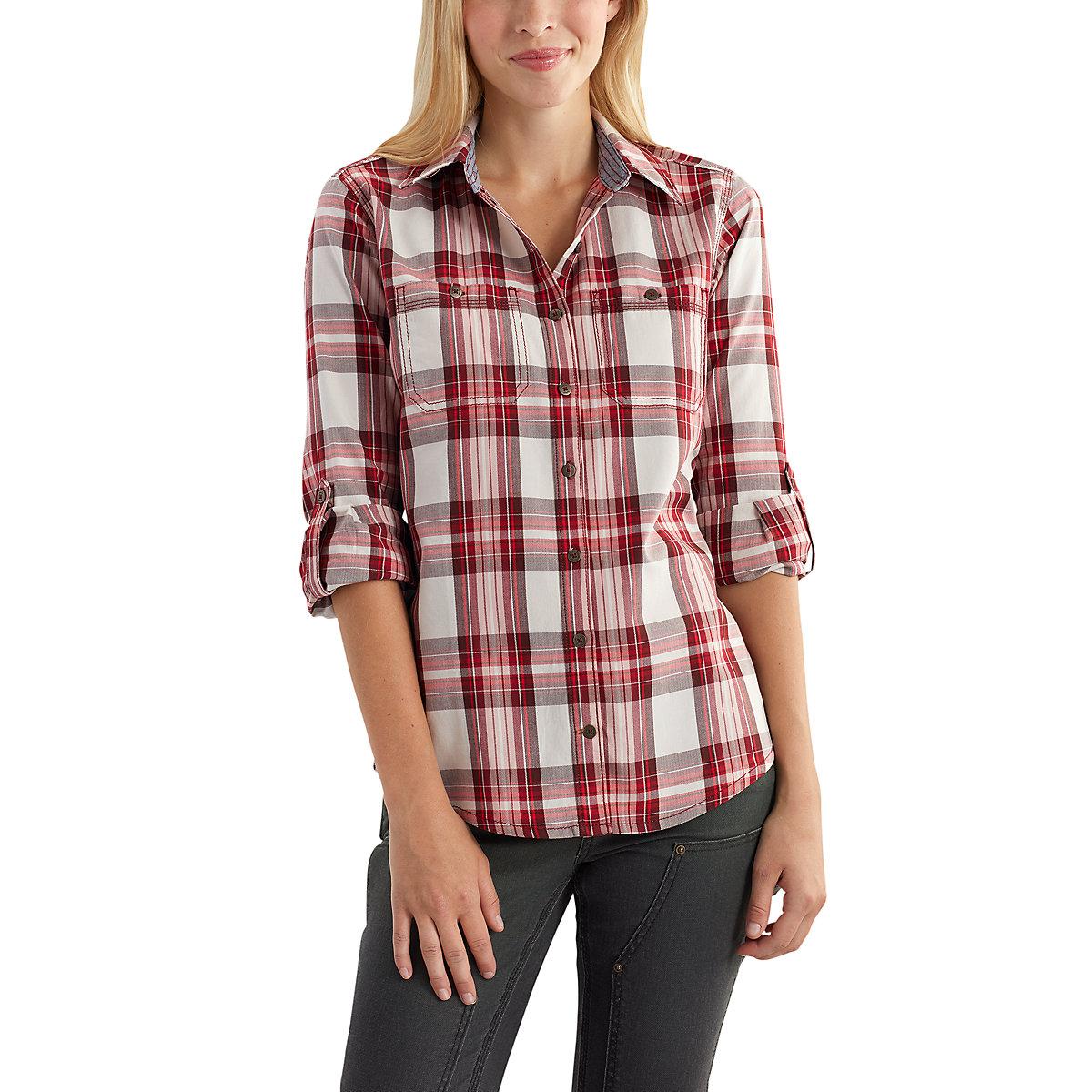 women 39 s dodson plaid shirt out 102262 carhartt
