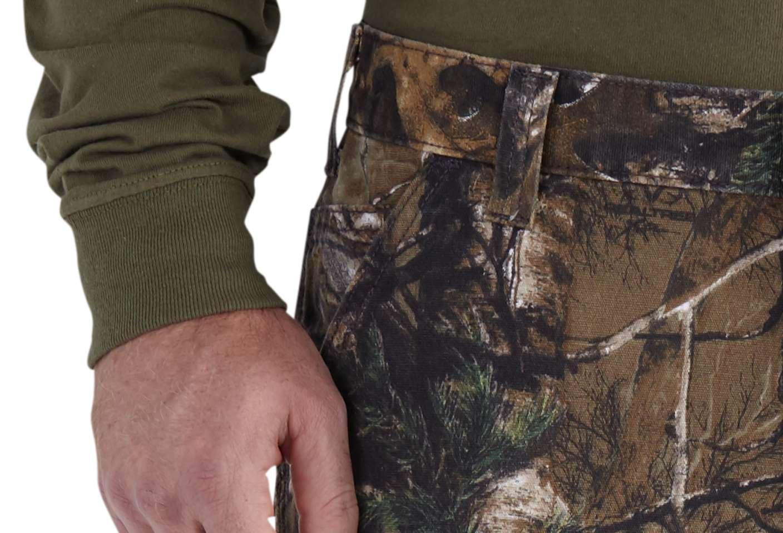 Convenient, reinforced front slash pockets