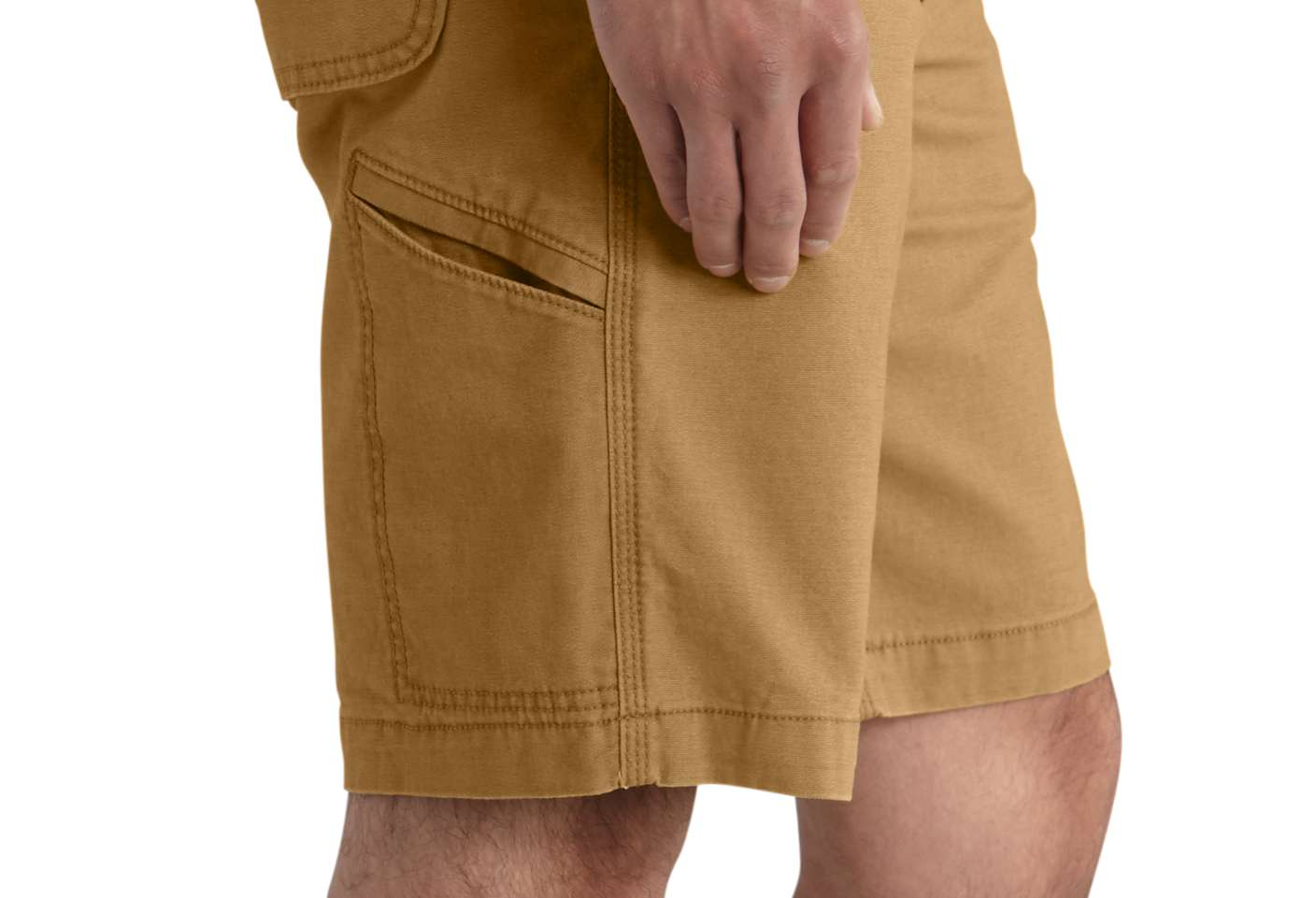 Right-leg cell phone pocket for quick, easy access