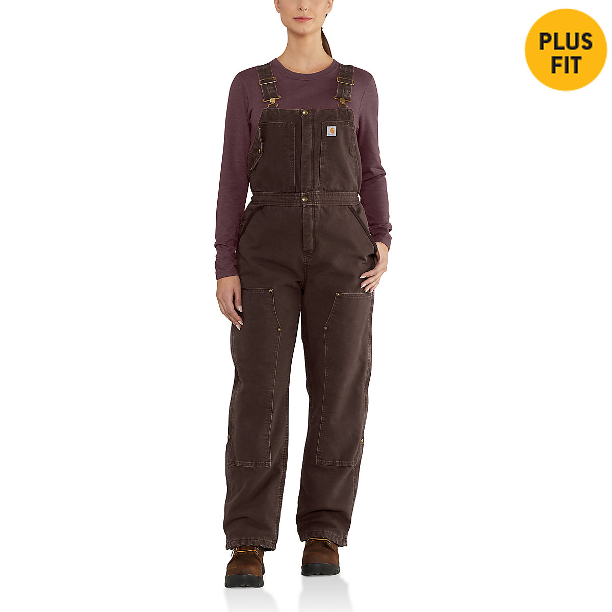 Women S Weathered Duck Wildwood Bib Overalls 102743 Carhartt