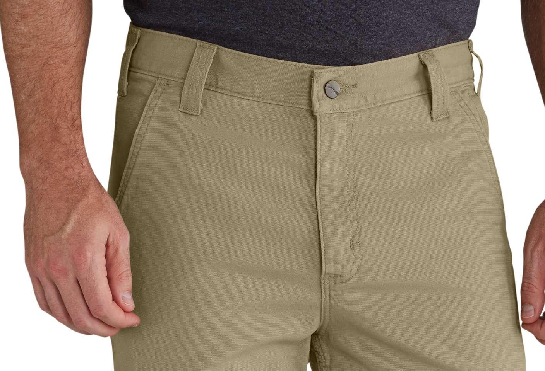 Reinforced front slash pockets won't stretch out