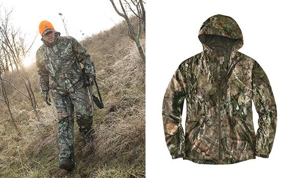 1 Mossy Oak 2. 2.5-layer membrane featuring Storm Defender waterproof breathable technology and Rain Defender durable water repellent 3 Rugged Flex® technology for ease of movement 4 10K/10K waterproof breathable protection rating 5 Fully Taped waterproof seams 6 Packable into lower front pocket