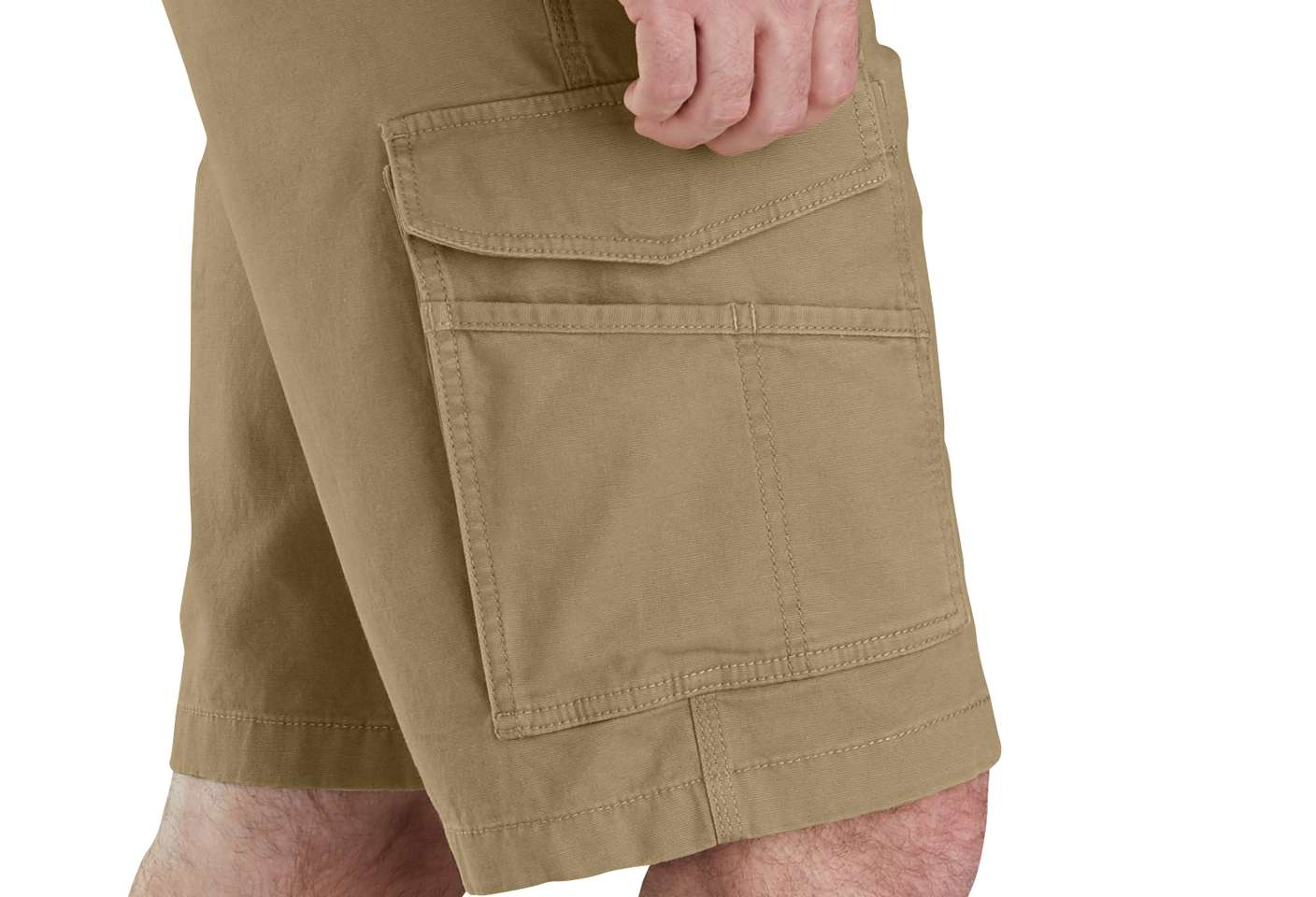 Utility and cargo pockets hold small tools