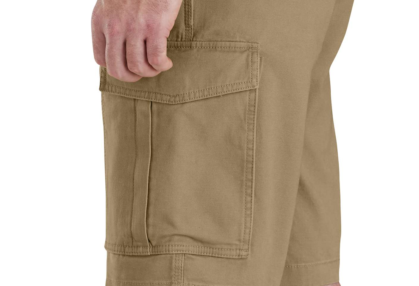 Cargo pocket with cell phone slot for secure storage