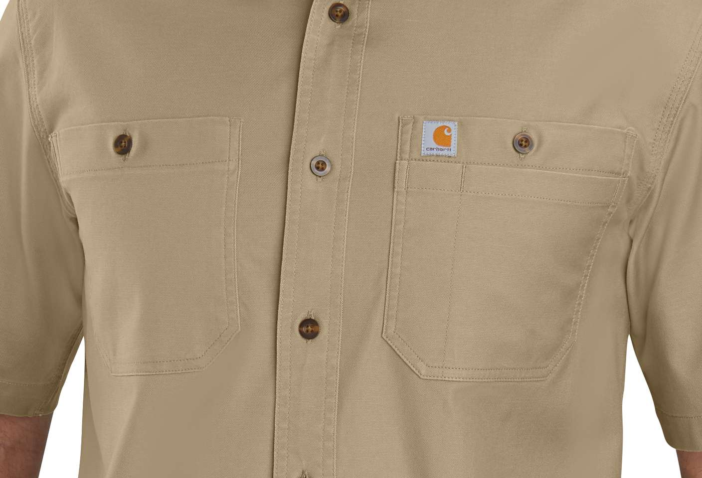 Chest pocket with utility panel for extra storage