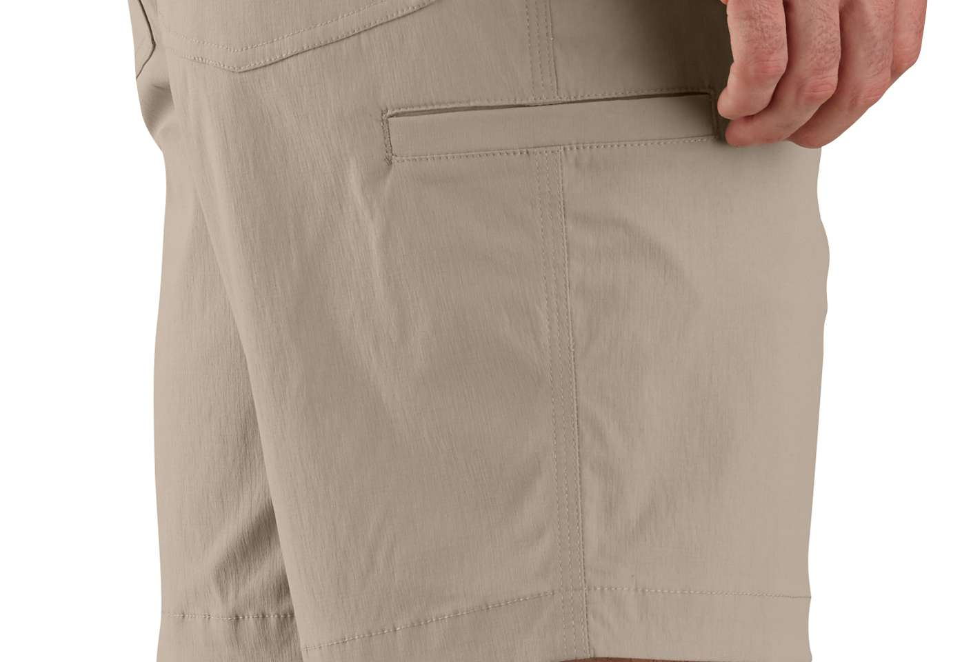 Left-leg cell phone pocket for quick, easy access