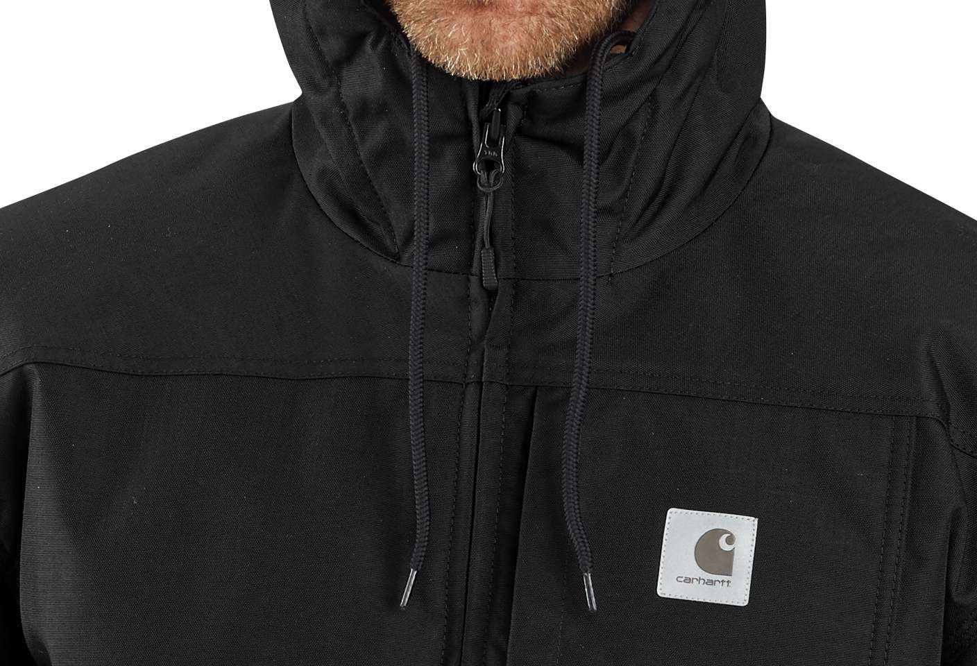 Adjustable 3M™ Thinsulate™ hood keeps out the cold