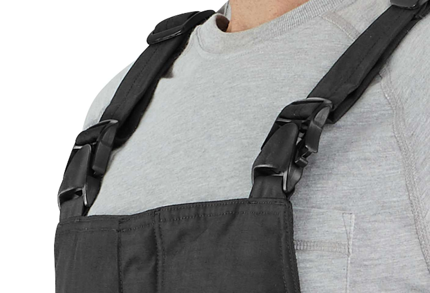 Low-profile buckle suspenders make changing easy