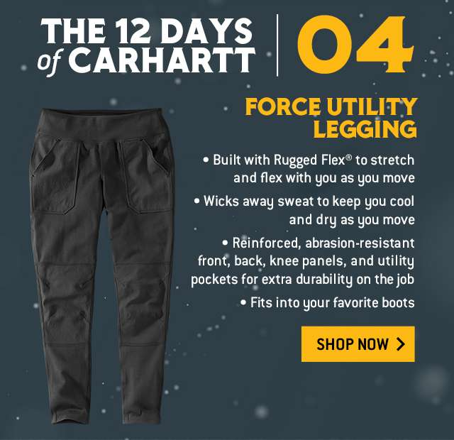 Force Utility Legging, built with rugged flex to stretch and flex with you as you move, built with rugged flex to stretch and flex with you as you move