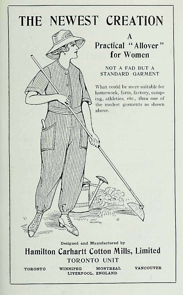 Oldest known Carhartt women's ad, 1917