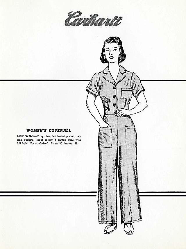 Women's coverall, 1940s