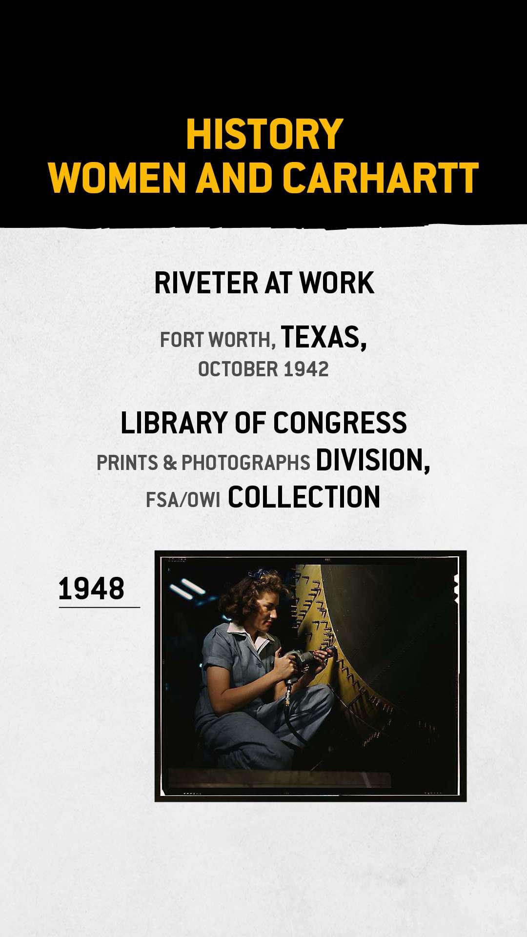 Klinker aan het werk, Fort Worth, Texas, oktober 1942 (Library of Congress, Prints & Photographs Division, FSA / OWI Collection)