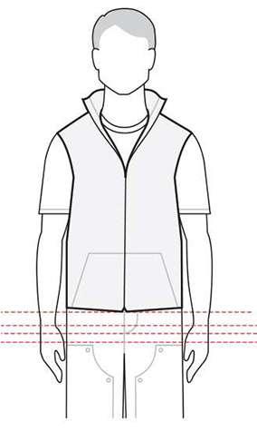 measurements men's vest