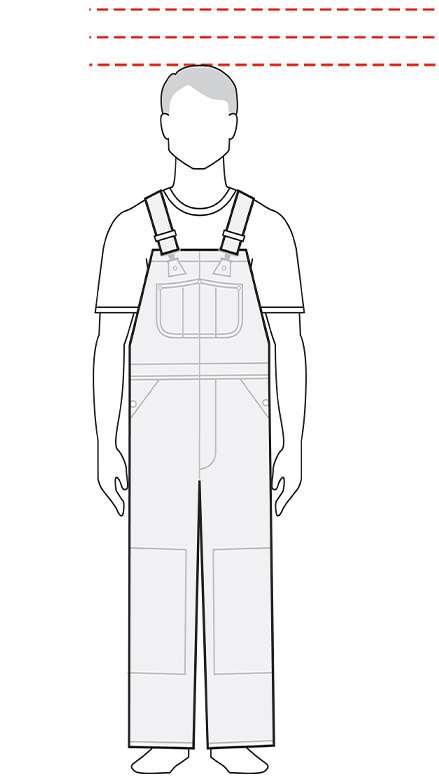 measurements men's short bib