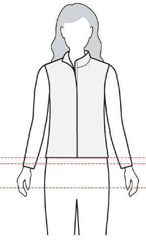 measurement womens vest