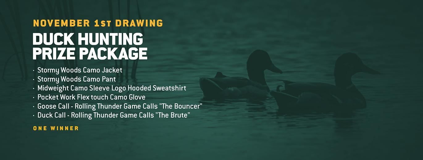 November 1st Drawing, Duck Hunting Prize package