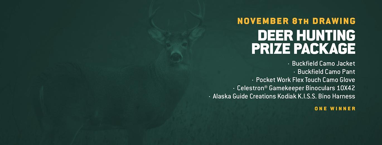 November 8th Drawing, Deer Hunting Prize Package