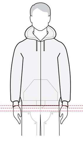 measurements men's jacket